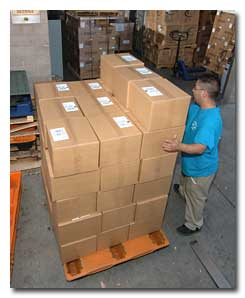 Receiving your merchandise and verifying your carton count.