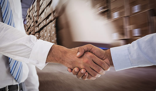 Handshake to do business with Medallion Fulfillment & Logistics