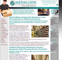 Screen shot of the new Medallion Fulfillment & Logistics website.