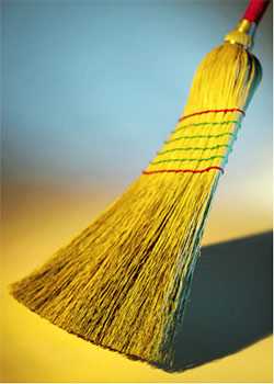 Broom up!